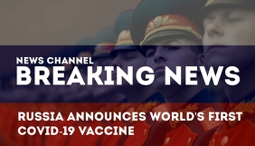 Russia Covid-19 Vaccine Blog Header Template Заголовок блога