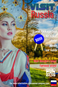 Russia/tour/travel/trips/travel agency Plakkaat template