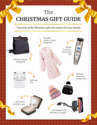 Rust Christmas Gift Guide Flyer ใบปลิว (US Letter) template