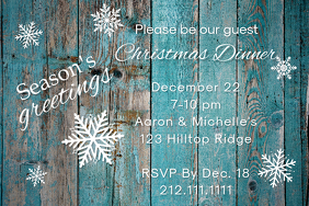 Rustic Ice Invite