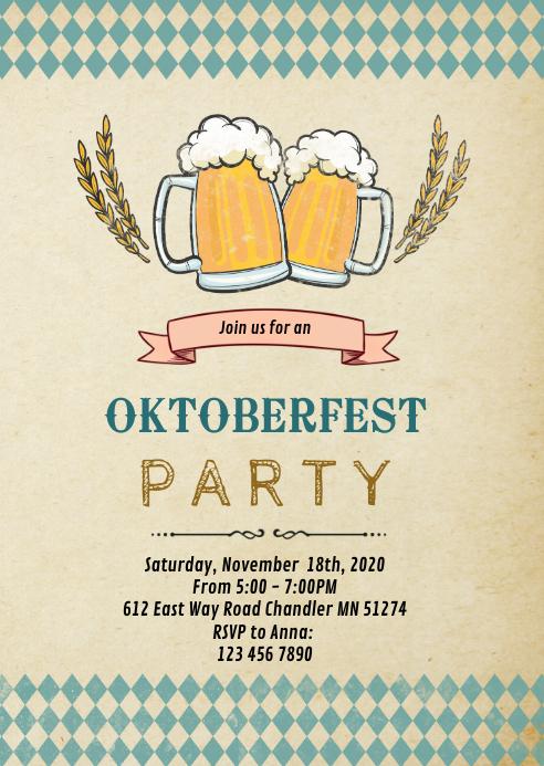 Rustic oktoberfest invitation