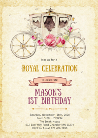Rustic princess BIRTHDAY SHOWER invitation