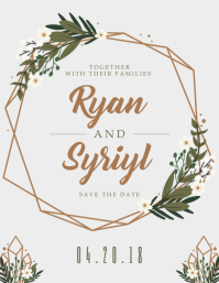 Wedding invitation templates postermywall rustic save the date invitation template wedding invitation postcard template stopboris Images