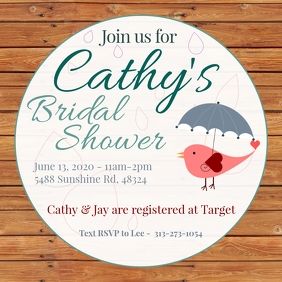 Rustic Shower Invitation