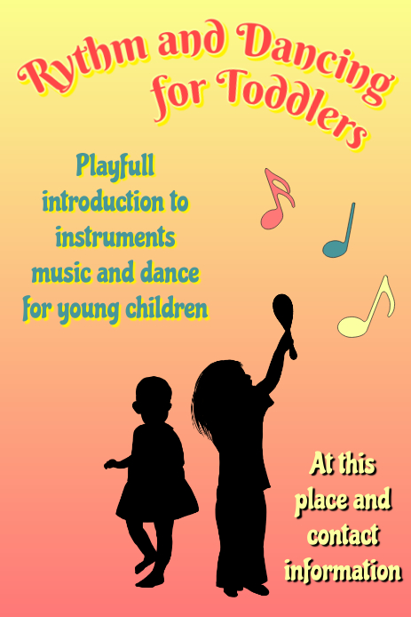 rythm and dancing for toddlers play with instruments