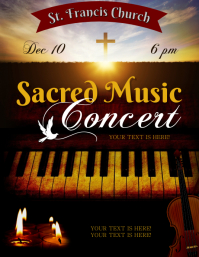 SACRED MUSIC CONCERT FLYER