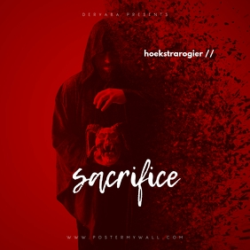 Sacrifice Red Mixtape CD Cover Template