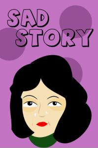 Sad story book cover design