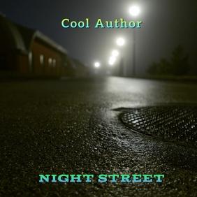 Sad. Night Street. Album Cover. Capa de álbum template