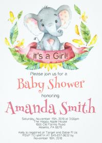 Safari Baby Shower Invitation 06