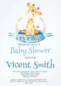 Safari Baby Shower Invitation 07