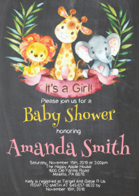 Safari Baby Shower Invitation 08