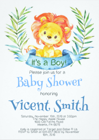 Safari Baby Shower Invitation 10