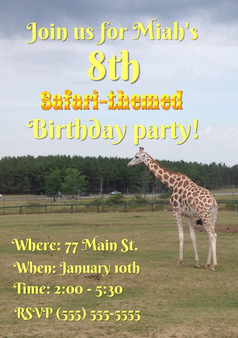 Safari Birthday Party
