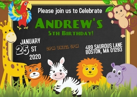 Safari Party Birthday Invitation 02