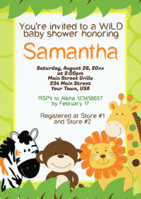 Safari Baby Shower Invitation 04
