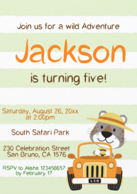Safari Party Birthday Invitation 11
