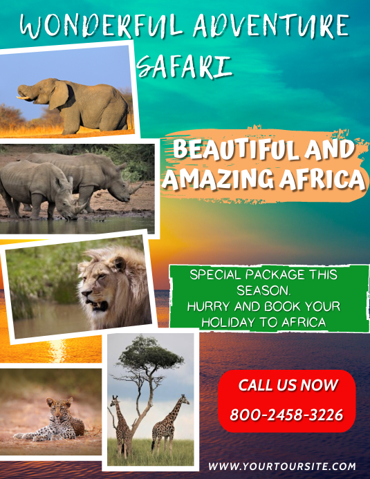 Safari Tour Flyer Template