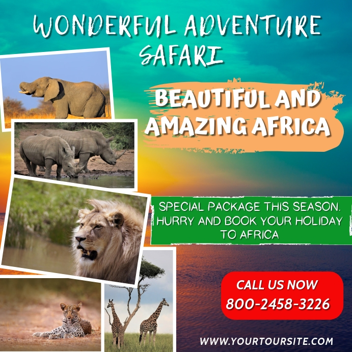 Safari Tour Instagram Template