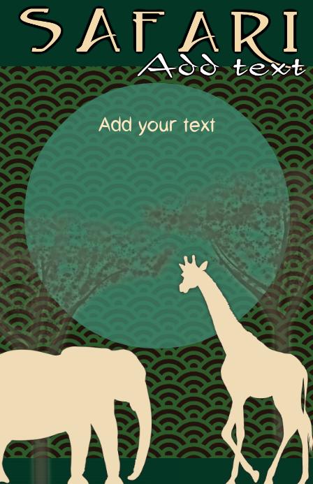 safari with african animals - savanah origin
