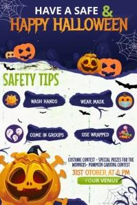 Safe Halloween Story Template, Halloween Poster
