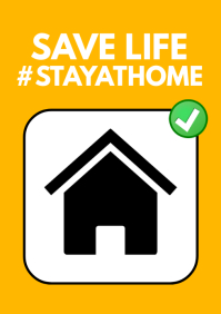 Safe life Stay Home Corona Covid19 Flyer