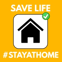 Safe life stay home social media prevention