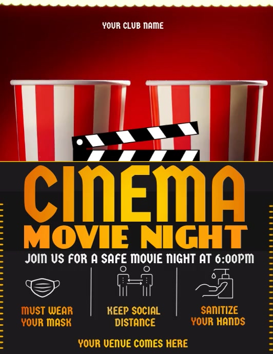 safe movie, cinema ,theater Flyer (US Letter) template