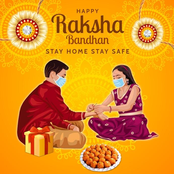 Safe Raksha Bandhan Template Kvadrat (1:1)