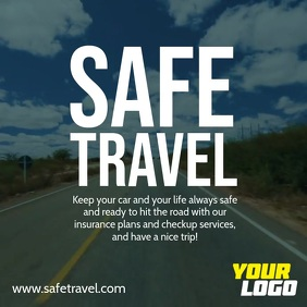 Safe Travel Square Ad template