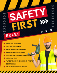 Safety First Construction Site Guidelines Pos