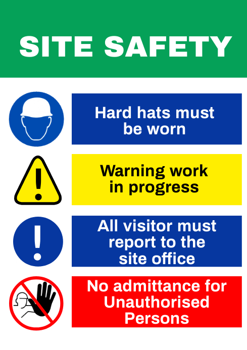 Safety Sign 2 A1 template