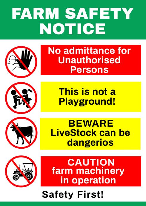 Safety Sign 50 A1 template