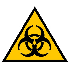 Safety sign Biohazard Album Cover template