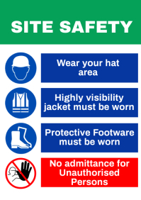 Safety Sign A1 template