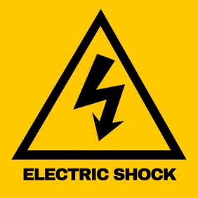 Safety sign Electric shock 2 Album Cover template