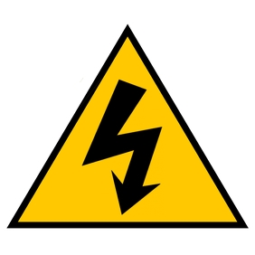 Safety sign Electric shock 3 Album Cover template