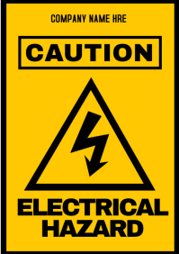 Safety sign Electric shock