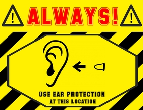 safety sign plugs - earplugs - hearing