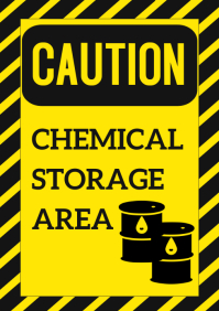 Safety Template/CHEMICAL STORAGE AREA/CAUTION A4