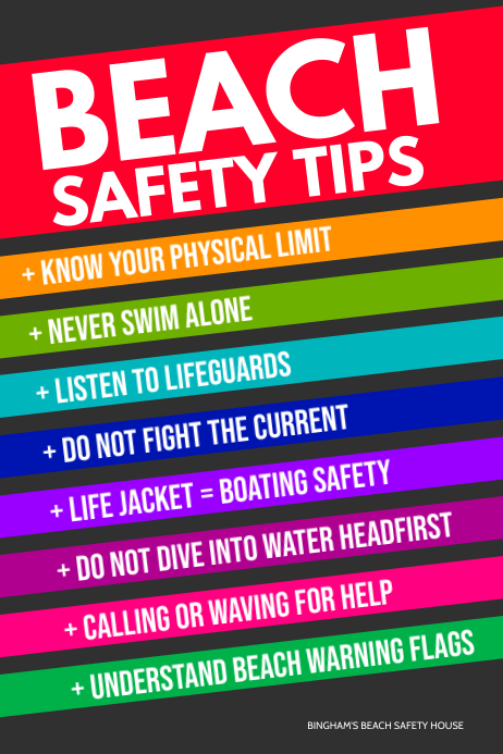 safety tips poster template