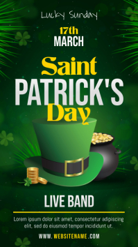 Saint Patrick's Day Celebration Event Image Digital Display Affichage numérique (9:16) template