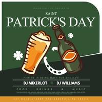 Saint Patrick's day Instagram Post template