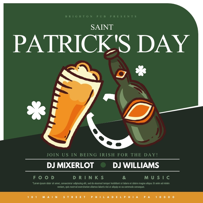 Saint Patrick's day Publicación de Instagram template