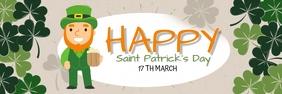 Saint Patrick's day แบนเนอร์ 2' × 6' template