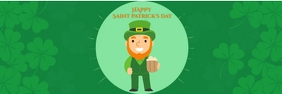 Saint Patrick's day Banner 2' × 6' template
