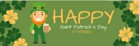 Saint Patrick's day Spanduk 2' × 6' template