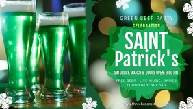Saint Patrick's Day Facebook Cover Video template