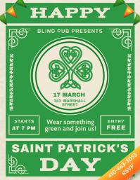 Saint Patrick's Day Green Flyer 传单(美国信函) template
