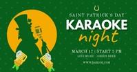 Saint Patrick's Day Karaoke Green Obraz udostępniany na Facebooku template